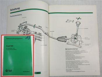 SSP 13 Audi 100 C2 Typ 43 Selbststudienprogramm Konstruktion Funktion