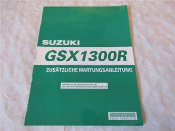 Suzuki GSX1300R Ergänzung Nachtrag zum Werkstatthandbuch 1999