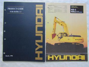 Hyundai Product Guide R450LC-3 und Prospekt 450-3 450LC-3 von 1996