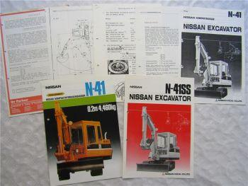 2 Prospekte Nissan N-41 N-41SS + Datenblätter Verkaufspunkte Angebot für N41
