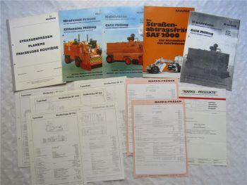 3 Prospekte Marks Fräsen SF 300 500 1000 1250 K 2000 + Daten + Typenblätter