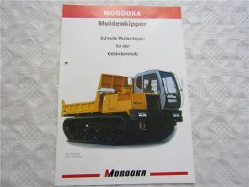 Prospekt MOROOKA Muldenkipper MST 300VD 800VD 3300VD mit technischen Angaben