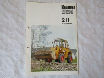original Prospekt Kramer Allrad 211 Schaufellader