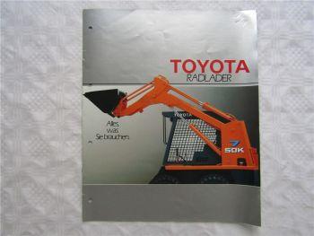 Prospekt Toyota Radlader 3SDK3 3SDK4 3SDK5 von 1990
