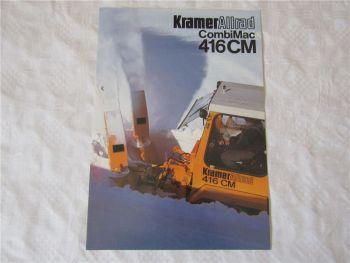 Prospekt Kramer Allrad CombiMac 416CM von 1/1985