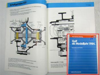 SSP 59 VW Golf II 2 Typ 19E ab 1984 Selbststudienprogramm Motor Achsen Getriebe