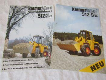 2 Prospekte Kramer Allrad 512SLx und 512SE Radlader von 1989/1994