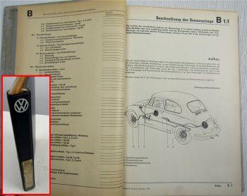 Reparaturleitfaden VW Typ 1 2 3 4 Käfer T2 Werkstatthandbuch Bremsen Räder