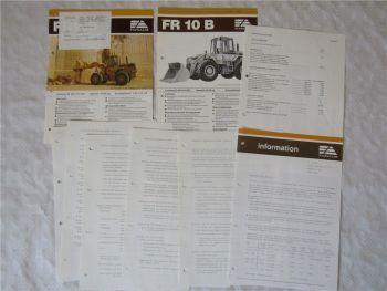 2 Prospekte Fiat-Allis Fiatallis FR10B Information Listenpreise 1980er Jahre