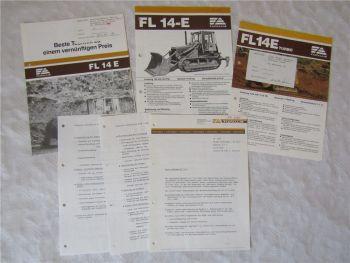 3 Prospekte Fiat-Allis Fiatallis FL14E und Information Verbesserungen 80er Jahre