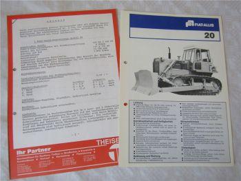 Prospekt Fiat-Allis Fiatallis 20 von 1978 und Angebot