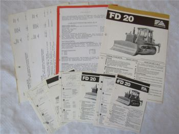 Prospekt Fiat-Allis Fiatallis FD20 Planierraupe Angebot Preisliste Datenblätter