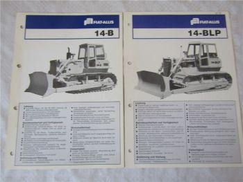 2 Prospekte Fiat-Allis Fiatallis 14 B BLP Planierraupe 1976/1977