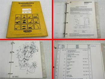 Mannesmann DEMAG H21 Bagger Ersatzteilliste Parts List ca 1979