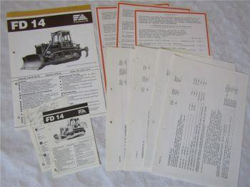 Prospekt Fiat-Allis Fiatallis FD14 Planierraupe Preisangebot Technische Daten