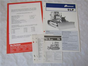 Prospekt Fiat-Allis Fiatallis 9LP Planierraupe ca 1976 Datenblätter Angebot