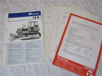 Prospekt Fiat Allis 10B Planierraupe Dozer Angebot und Preise 70er Jahre