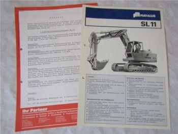 Prospekt Fiat Allis Fiatallis SL11 Kettenbagger und Angebot