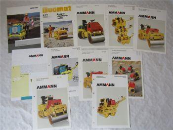 11 Prospekte Ammann Walzen Tandem-Vibrationswalzen ca 1980-2000