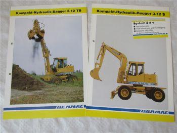2 Prospekte Benmac 3.12S 3.12TB Hydraulik-Bagger
