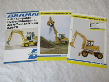 3 Prospekte Benmac 3.12S 3.12TB 3.06TB Hydraulik-Bagger