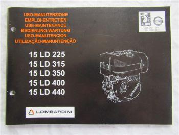 Lombardini 15LD 225 315 350 400 440 Betriebsanleitung Manutenzione Manual 2004