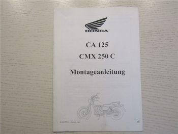 Honda CA125 CMX250C Motorrad Montageanleitung 1997 Werkstatthandbuch