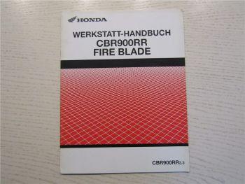 Honda CBR900RR Fire Blade Zusatz zur Reparaturanleitung Werkstatthandbuch
