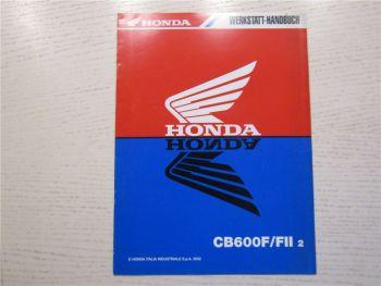 Honda CB600 F FII Hornet Ergänzung zur Reparaturanleitung 2002 Werkstatthandbuch
