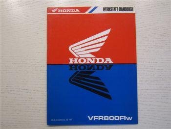 Honda VFR800 Flw Ergänzung Nachtrag Werkstatthandbuch Reparaturanleitung 1998