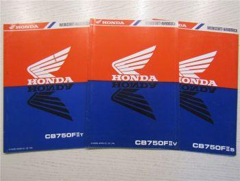 3 Nachträge Honda CB750FII s t v Ergänzungen zum Werkstatthandbuch 1994-1996