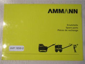 Ammann AVP1850-2 Rüttelplatte Ersatzteilliste Ersatzteilkatalog Parts List 2005