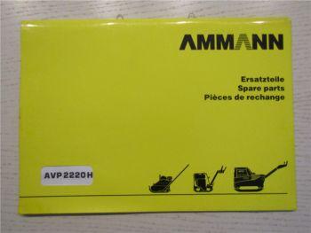 Ammann AVP2220H Ersatzteillite Parts List Pieces de Rechange 8/1999