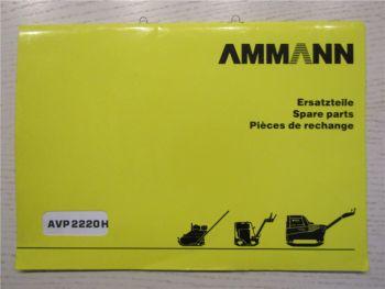 Ammann AVP2220H Ersatzteillite Parts List Pieces de Rechange 11/98