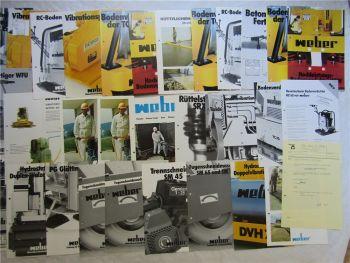 30 Prospekte Weber Fugenschneider Trennschneider Walzenrüttler Vibrationsplatte
