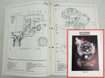 Pierburg 2B-E Vergaser in BMW 316 518 Schulung Information Service 80er