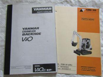 Yanmar ViO15 Crawler Backhoe Parts Catalog List Ersatzteilliste in englisch 3/97