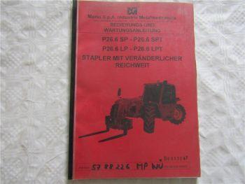Merlo P 26.6 SP LP SPT LPT Teleskop Stapler Betriebsanleitung Bedienung Wartung