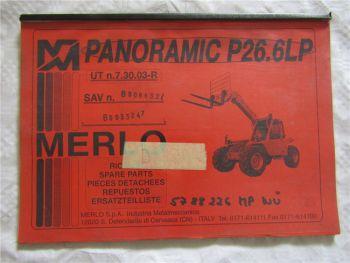 Merlo 26.6 LP LPT SP SPT 28.7 EVS EVT Ersatzteilliste Bild-Katalog Parts List