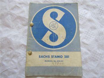 Sachs Stamo 281 moteur mode demploi manuel no 454.2