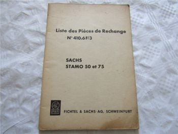 Sachs Stamo 50 et 75 Liste des Pieces de Rechange n 410.6F/3