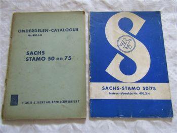 Sachs Stamo 50 75 Instructieboekje en Onderdelen Catalogus