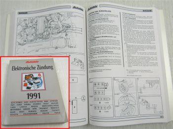 Autodata Elektronische Zündung für PKW 1991 Werkstatthandbuch Datenbuch