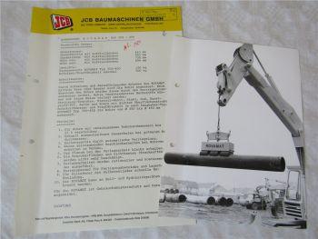JCB Rohrsauger ROVAMAT Typ 350 - 450 Daten und Foto aus den 80er Jahren