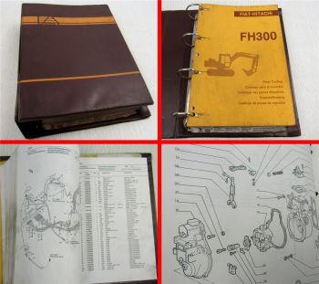 Fiat Hitachi FH300 Ersatzteilliste Parts List Catalogo Parti di ricambi ca 1992