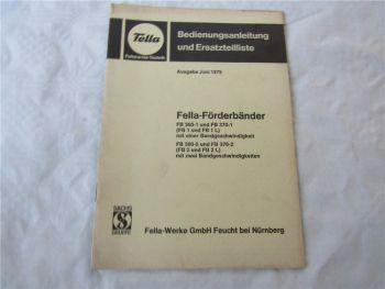 Fella FB 300-1 370-1 FB1 L 300-2 370-2 FB2 L Ersatzteilliste Bedienungsanleitung