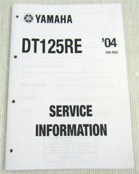 Yamaha DT125RE Service Information 2004 Wartungsdaten Schaltplan Elektrik