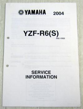 Yamaha YZF-R6 S 2004 Service Information Kraftstofftank Schaltplan Elektrik