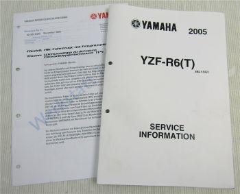 Yamaha YZF-R6 T 2005 Service Information Kraftstofftank Schaltplan Elektrik