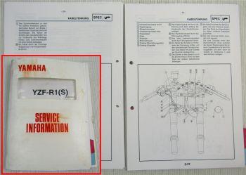 Yamaha YZF-R1 S 2004 Service Information Wartung Schmierung Schaltplan Elektrik